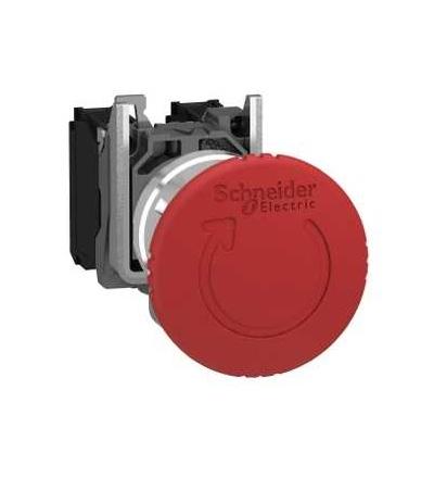 Schneider Electric XB4BS8445EX Ovládač nouzového zastavení, uvolnit pootočením, 1 V+1 Z