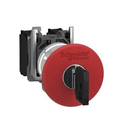 Schneider Electric XB4BS9445EX Ovládač nouzového zastavení, odblokovat klíčem, 1 V+1 Z