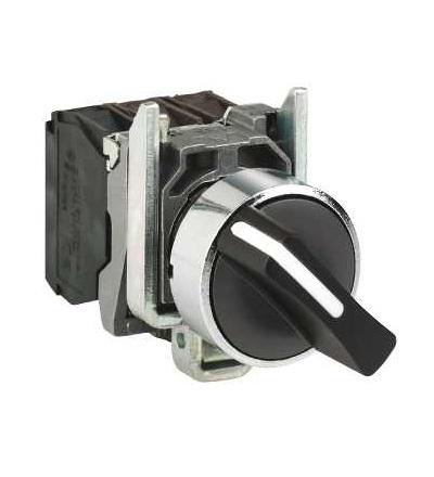 Schneider Electric XB4BD41 černý kompletní otočný přepínač ? 22 2-polohy s návratem 1Z