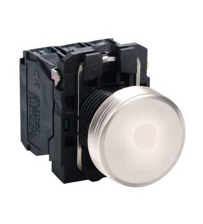 Schneider Electric XB5AVM1 Bílá kompletní signálka ? 22 plná čočka integ. LED 230...240V