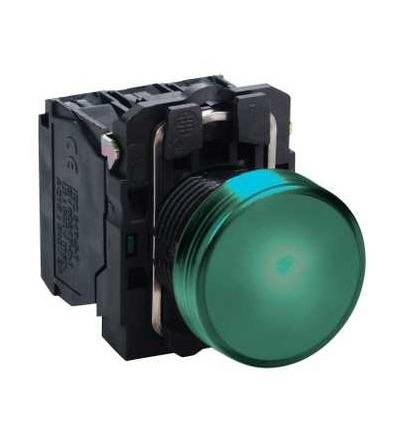 Schneider Electric XB5AVM3 Zelená kompletní signálka ? 22 plná čočka integ. LED 230...240V