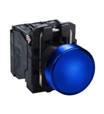 Schneider Electric XB5AVM6 Modrá kompletní signálka ? 22 plná čočka integ. LED 230...240V