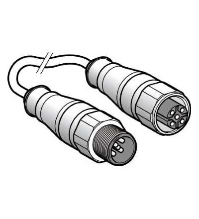 XZCRA151140A5 Propojovací kabel XZ, samec přímý M12 3-pin, samice přímý M12 3-pin, PVC 5m, Schneider Electric