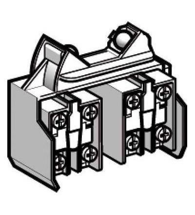 XCRZ42 Blok kontaktů XCRZ, 2 V/Z, mžikové, Schneider Electric