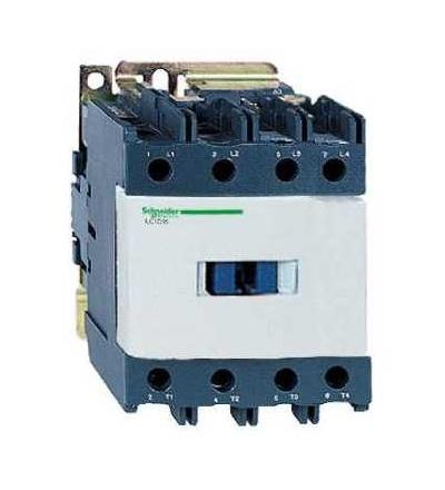 Schneider Electric LP1D80008ED TeSys D stykač, 4p(2Z+2V), AC-1, ? 440 V 125A, 48 V DC cívka