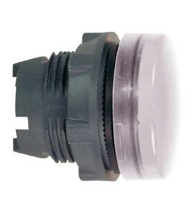 Schneider Electric ZB5AV013E Bílá signální hlavice ? 22 plná čočka pro integ. LED
