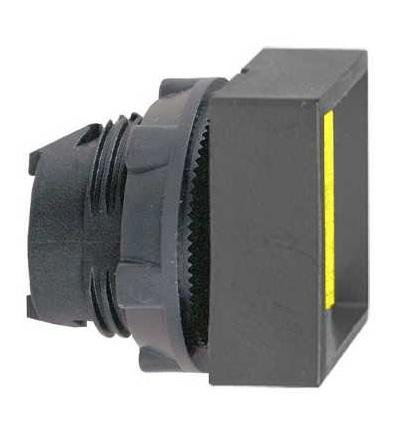 Schneider Electric ZB5CA56 žlutá čtver. zapuš. ovl. hlavice stiskací ? 22 s návratem neoznačená
