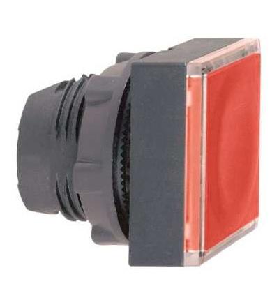 Schneider Electric ZB5CW343 červená čtver.zapuš.ovl.hlavice stiskací prosvět.? 22 s návratem pro integ.LED