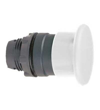 Schneider Electric ZB5AW713 Bílá O40 prosvět. hlavice s hřibovým tlačítkem ? 22 s aretací pro integ. LED