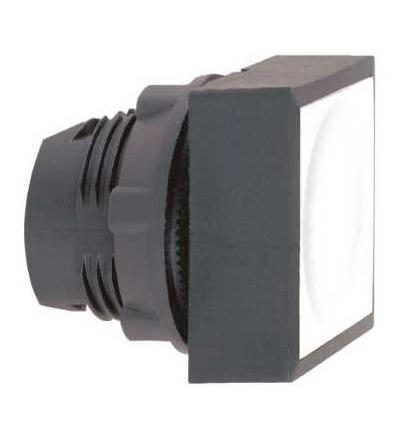 ZB5CW3136 Bílá čtver. zapuš. ovl. hlavice stiskací prosvět. ? 22 s návratem pro integ. LED, Schneider Electric
