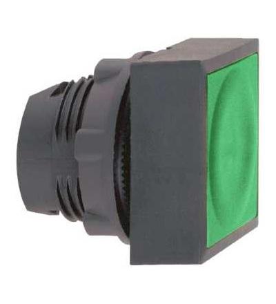 ZB5CW3336 Zelená čtvercové zapuš.ovl.hlavice stis. prosvět.? 22 s návratem pro integ.LED, Schneider Electric