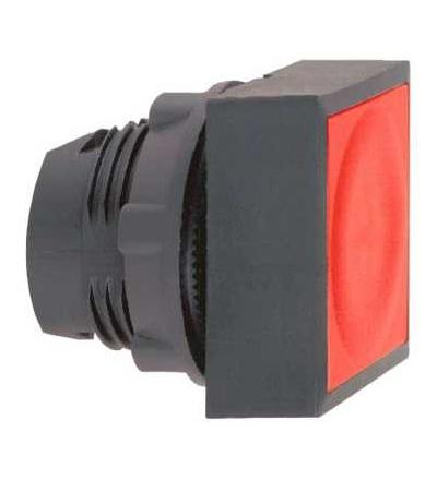 ZB5CW3436 červená čtver.zapuš.ovl.hlavice stiskací prosvět.? 22 s návratem pro integ.LED, Schneider Electric