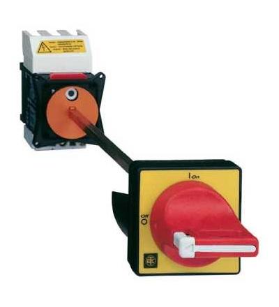 Schneider Electric VCCF4 Odpínač VCCF, TeSys, 3p, 690 V 80A, uzamykatelná červená rukojeť