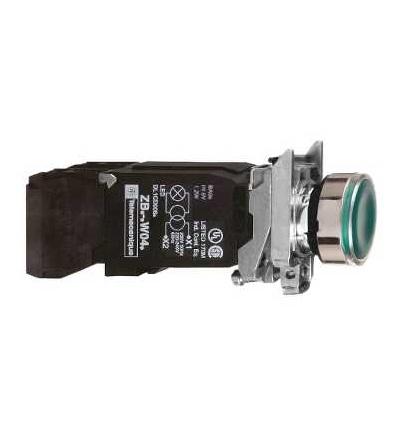 Schneider Electric XB4BW3345 Zelená ovládač stiskací prosvětlený lícující ? 22 s návratem 1Z+1V 220...240V