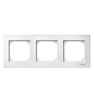 Schneider Electric MTN488319 M-PLAN II frame, 3-gang, flush-mounted, polar white