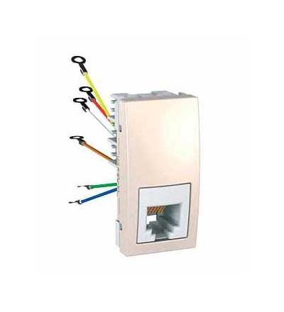 Schneider Electric MGU3.491.25 Zásuvka telefonní RJ12, 6 kontaktů, 1 modul, marfil