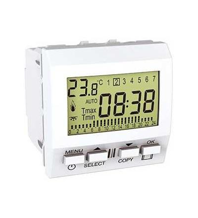 Schneider Electric MGU3.505.18 Unica-termostat týdenní programovatelný-230V AC-2m-polar