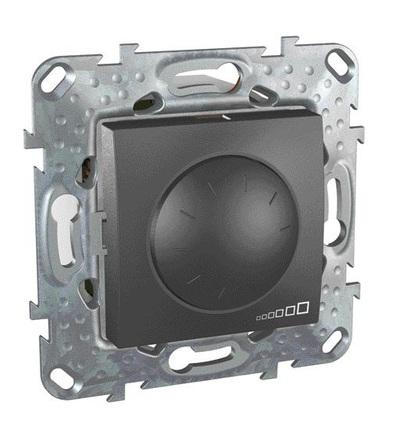 Schneider Electric MGU5.512.12 Stmívač otočný 40-1000W, vč.montážního rámečku, grafit
