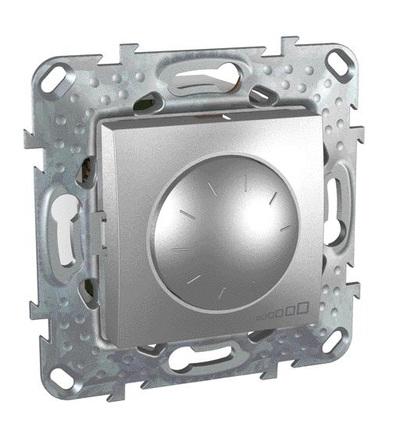 Schneider Electric MGU5.512.30 Stmívač otočný 40-1000W, vč.montážního rámečku, alu