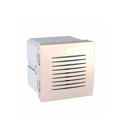 Schneider Electric MGU3.786.25 Unica, elektronický dveřní zvonek, 230V AC, 2mod., clip-in, marfil