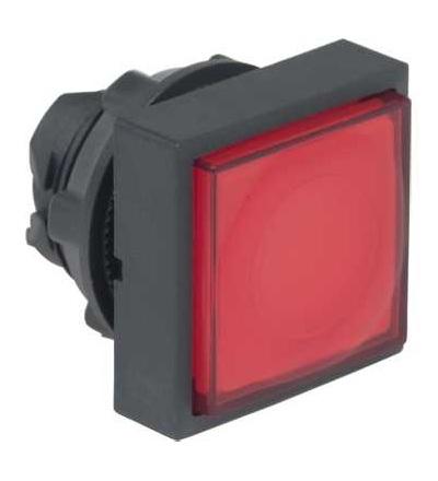 ZB5CW143 červená čtver.s přesah.ovl.hlavice stis. prosvět.? 22 s návratem pro integ.LED, Schneider Electric