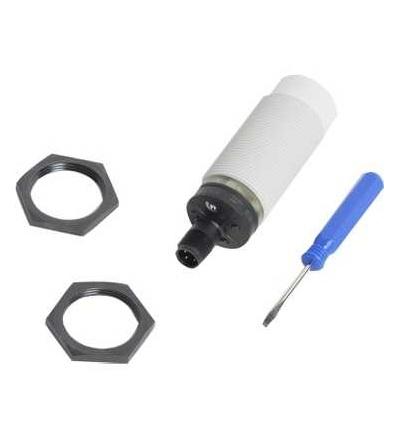 XT230A1PCM12 Kapacitní čidlo, XT1, válcové M30, plast, Sn 15mm, 12..24 V DC, Schneider Electric