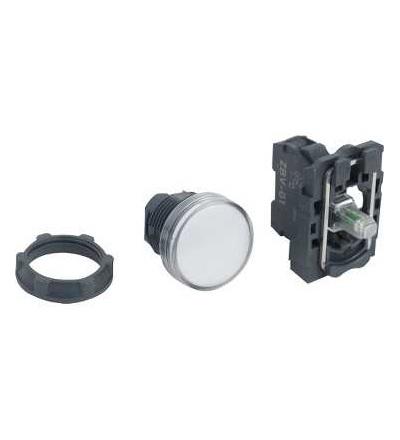 Schneider Electric XB5AVG1 Bílá kompletní signálka ? 22 plná čočka integ. LED 110...120V