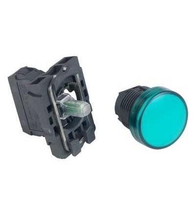 Schneider Electric XB5AVB3 Zelená kompletní signálka ? 22 plná čočka integ. LED 24V