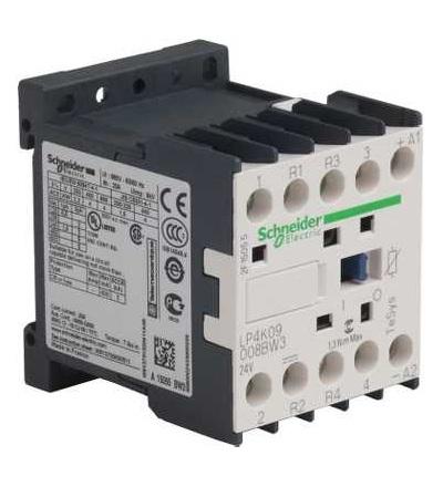 LP4K09008BW3 TeSys K stykač, 4p (2Z+2V) -AC-1, ? 440 V 20A, cívka 24 V DC, Schneider Electric