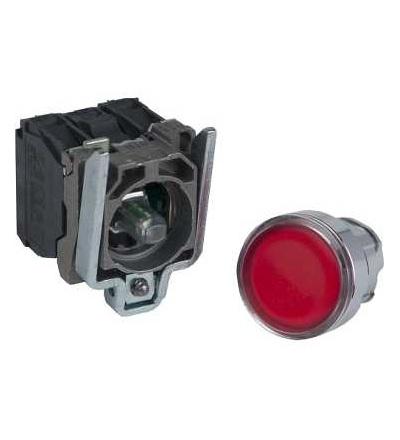 Schneider Electric XB4BW34B5 červená ovládač stiskací prosvětlený lícující ? 22 s návratem 1Z+1V 24V