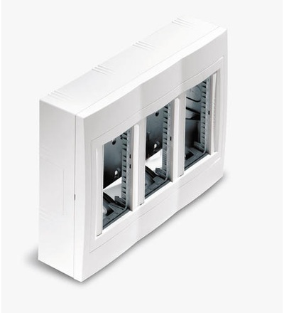Schneider Electric U22.234.30 Centrál.jednotka, 3 sloupce x 4moduly, na povrch, alu
