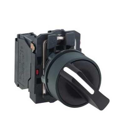 Schneider Electric XB5AD21 černý kompletní otočný přepínač ? 22 2-polohy pevné 1Z