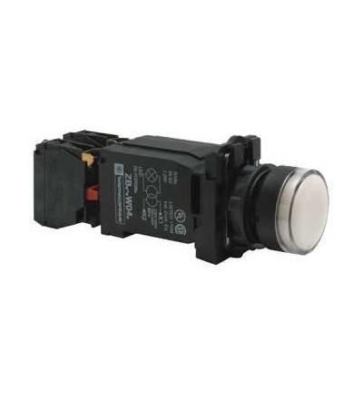 Schneider Electric XB5AW3145 Bílá ovládač stiskací prosvětlený lícující ? 22 s návratem 1Z+1V 220...240V