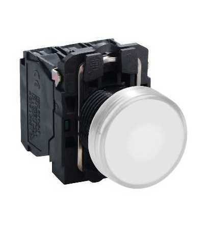 Schneider Electric XB5AW31M5 Bílá ovládač stiskací prosvětlený lícující ? 22 s návratem 1Z+1V 220...240V
