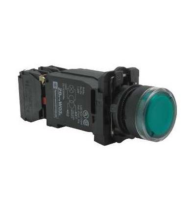 Schneider Electric XB5AW3345 Zelená ovládač stiskací prosvětlený lícující ? 22 s návratem 1Z+1V 220...240V