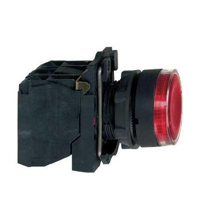Schneider Electric XB5AW34B5 červená ovládač stiskací prosvětlený lícující ? 22 s návratem 1Z+1V 24V