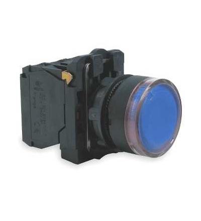 Schneider Electric XB5AW36M5 Modrá ovládač stiskací prosvětlený lícující ? 22 s návratem 1Z+1V 220...240V