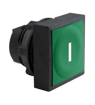 Schneider Electric ZB5CA331 Zelená čtvercové zapuš. hlava tlačítka ? 22 s návratem