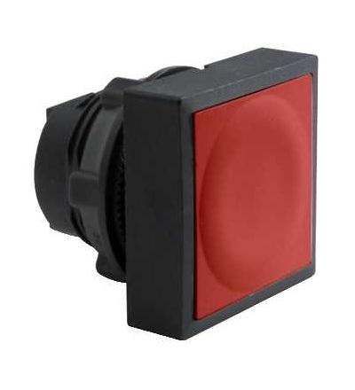 ZB5CA4 červená čtver. zapuš. hlava tlačítka ? 22 s návratem neoznačená, Schneider Electric