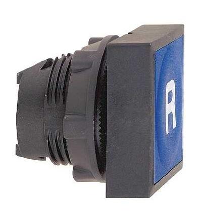 Schneider Electric ZB5CA6939 Modrá čtver. zapuš. hlava tlačítka ? 22 s návratem