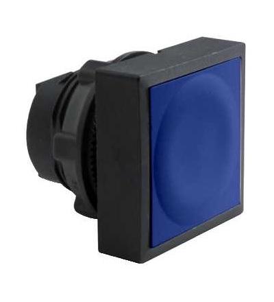 Schneider Electric ZB5CA6 Modrá čtver. zapuš. hlava tlačítka ? 22 s návratem neoznačená