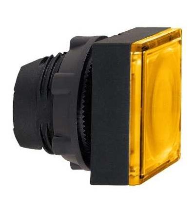 Schneider Electric ZB5CW353 Oranžový čtver.zapuš.ovl.hlavice stiskací prosvět.? 22 s návratem pro integ.LED