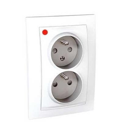 Schneider Electric Unica, 2 S.O. (frame), 2x2p+E, FR, white MGU23.065.18P