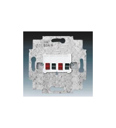 ABB Zásuvka reproduktorová stereofonní alpská bílá 0230-0-0403