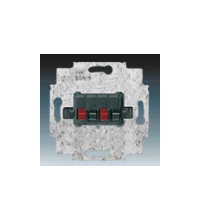 ABB Zásuvka reproduktorová stereofonní černá 0230-0-0404
