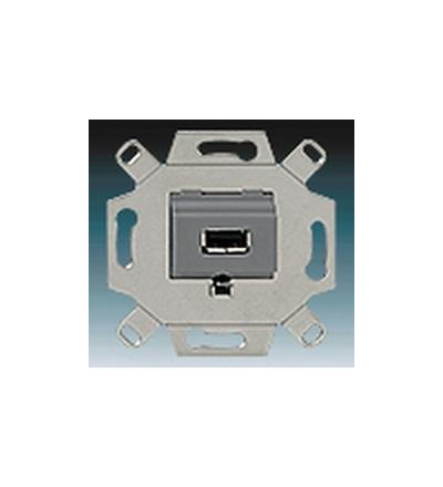 ABB Zásuvka komunikační USB šedá 0230-0-0420