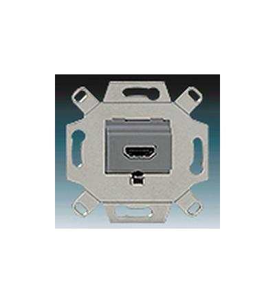 ABB Zásuvka komunikační HDMI šedá 0230-0-0432