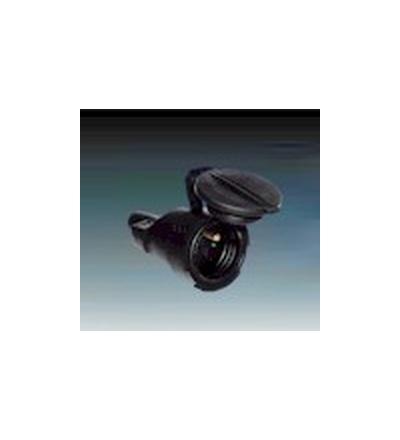 ABB Zásuvka pohyblivá IP 65 s ochranným kontaktem, s clonkami, s přímým vývodem černá 1.214.80
