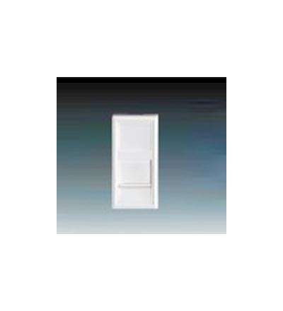 ABB Modul zásuvkový 22,5x45 se záclonkou bílá 136811-1