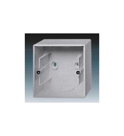 ABB Krabice přístrojová jednonásobná, nástěnná hliníková stříbrná 1799-0-0905